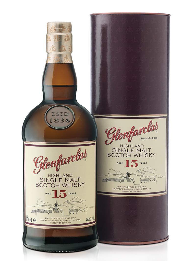 Glenfarclas Highland Single Malt Scotch Whisky 15 Year Old