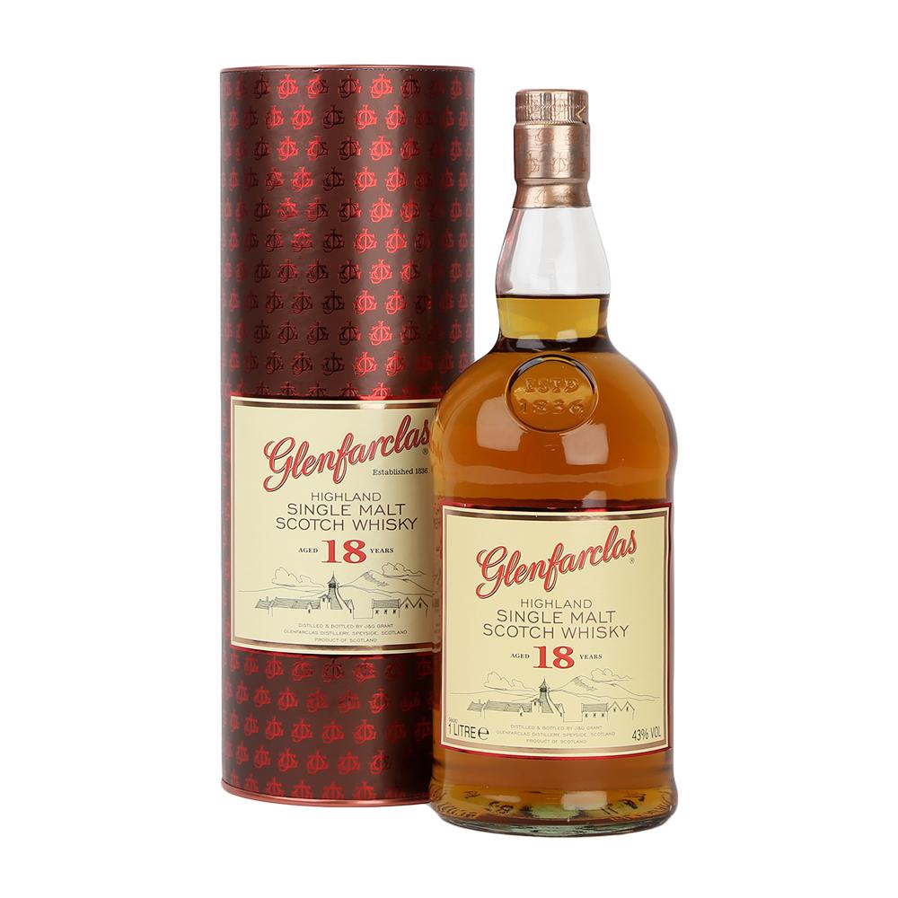 Glenfarclas Highland Single Malt Scotch Whisky 18 Year Old